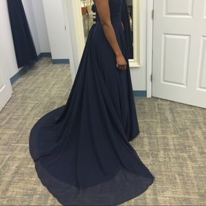 brand new (with tags) formal chiffon dress.